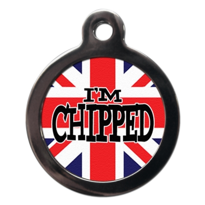Union Jack Chipped Tag