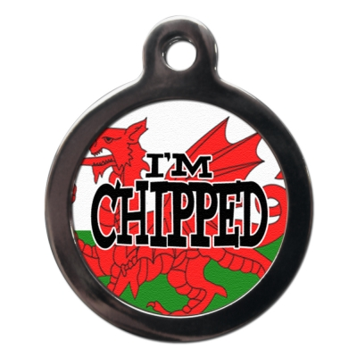 Welsh Dragon Chipped Tag