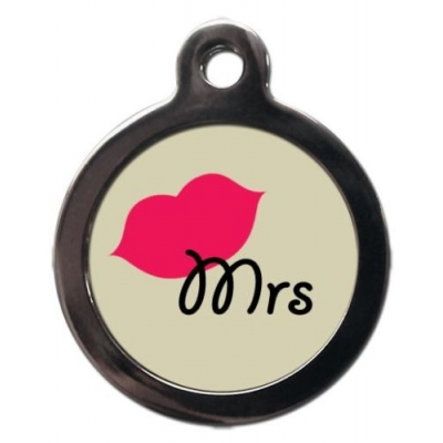 Mrs Tag Dog Tag title=