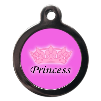 Pink Princess Dog Tag