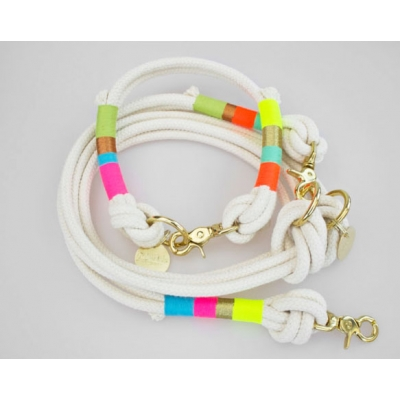 Rainbow Lovers Rope Collar title=