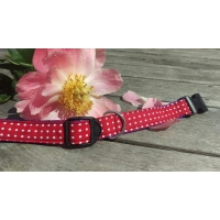 Red Polka Collar