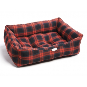 Red & Grey Tartan Bed