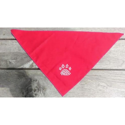 Red Diamante Paw Bandana