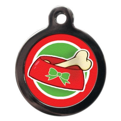Christmas Bone Dog Tag