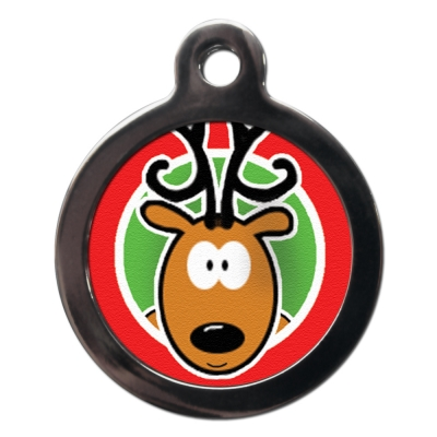Rudolph the Reindeer Christmas Dog Tag