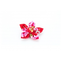 Red Vintage Flower Collar Attachment