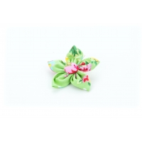 Green Vintage Flower Collar Attachment