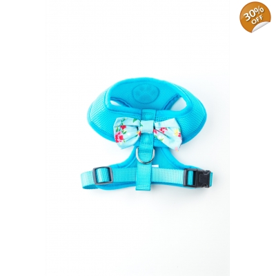Blue Vintage Bow Harness