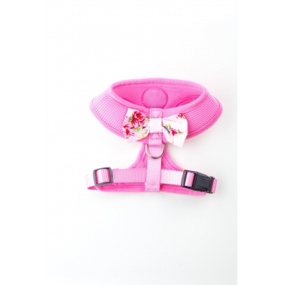 Pink Vintage Bow Harness title=