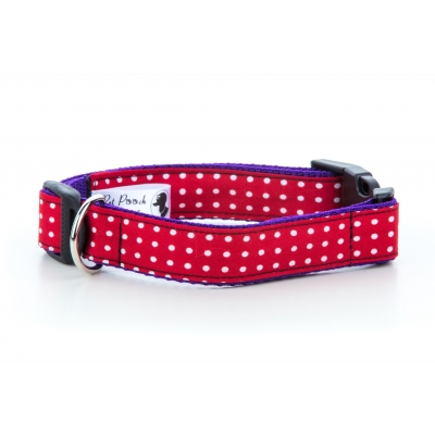 Red Polka Collar title=