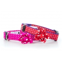 Pink Polka Flower Collar