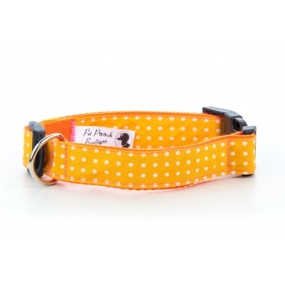 Yellow Polka Collar