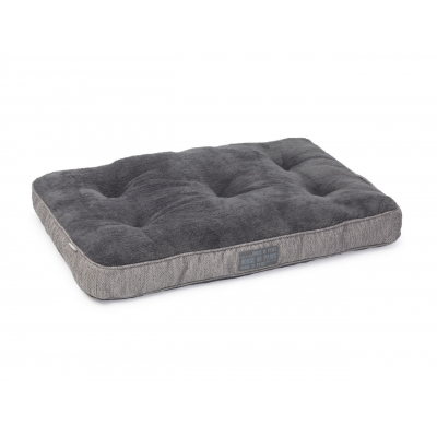 Grey Hessian Box Duvet Bed - House of Paws