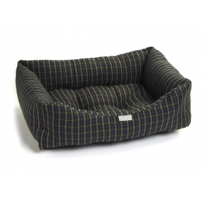 Navy Check Bed