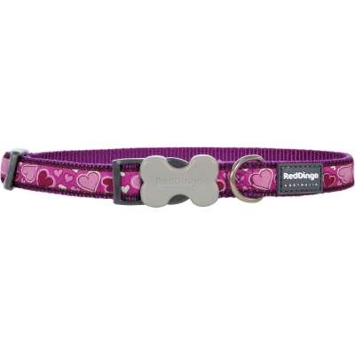 Purple Breezy Hearts Red Dingo Collar