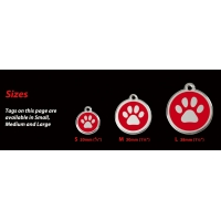 Red Dingo Enamel Bone Tag