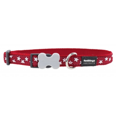 Red Stars Red Dingo Collar
