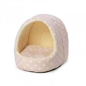 Fleece Star Hooded Bed - Pink - House ..