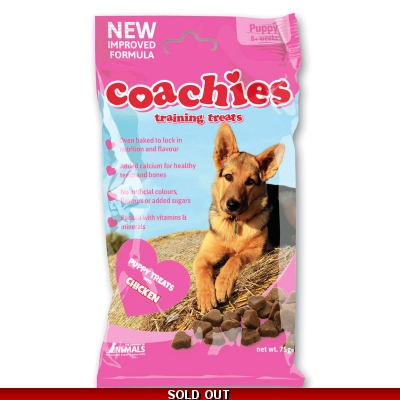 Coachies Puppy Training Treats - Chicken title=