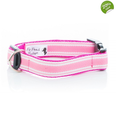 Pink Breton Stripe Collar title=