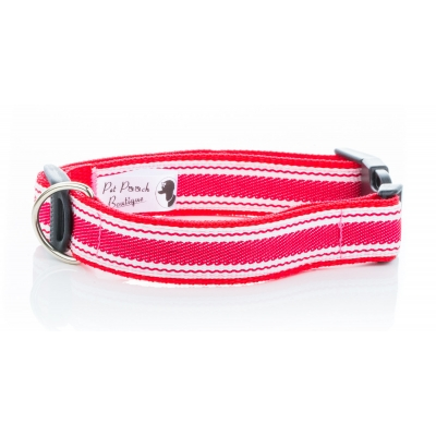 Red Breton Stripe Collar