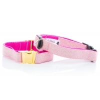 Pink Herringbone Tweed Collar