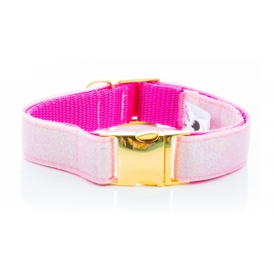 Pink Sparkle Collar on Gold