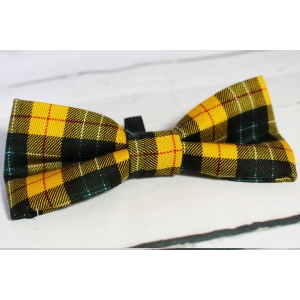 Mustard Plaid Bow Tie