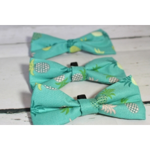 Green Pineapple Bow Tie