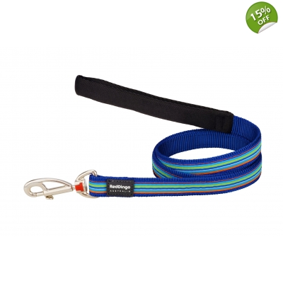 Blue Stripes Dingo Dog Lead