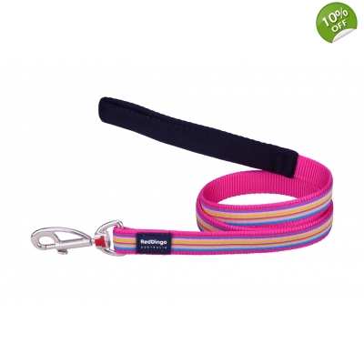 Pink Stripes Dingo Dog Lead