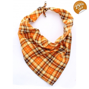 Orange Plaid Bandana