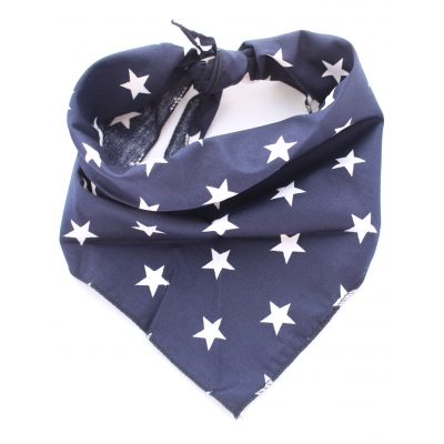 Navy Blue Star Bandana