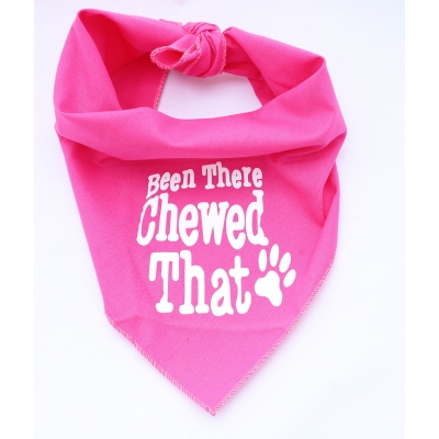 Been There, Chewed That Hot Pink Bandana