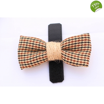 Country Tweed Bow Tie title=
