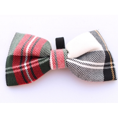 Alfies Red & White Plaid Bow Tie title=
