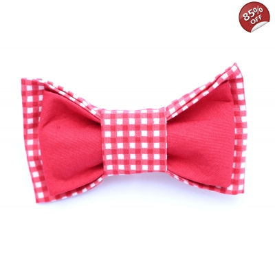 Pandys Red Checkered Bow Tie