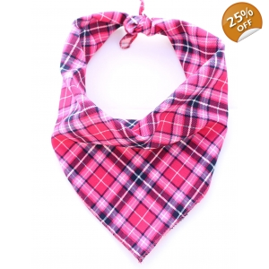 Pink Plaid Bandana