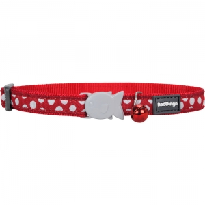 Red Dingo Red Spot Cat Collar