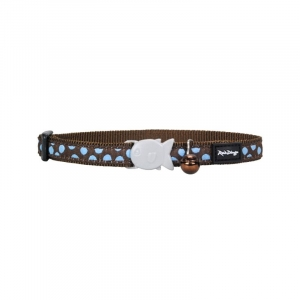 Red Dingo Chocolate Spot Cat Collar