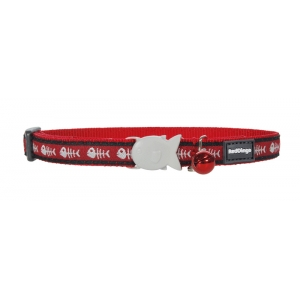 Red Dingo Red Fish Bone Cat Collar