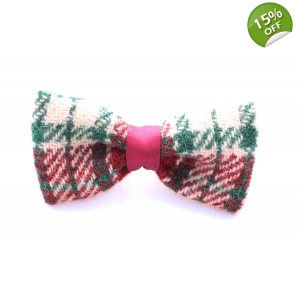 Fern Green Tweed Bow Ti..