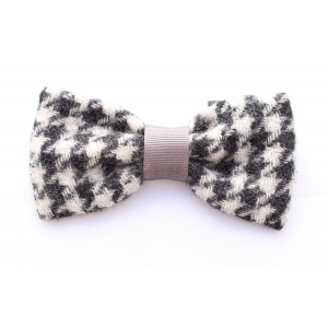 Houndstooth Tweed Bow T..