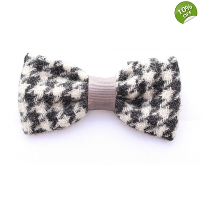 Houndstooth Tweed Bow Tie - Limted Edition