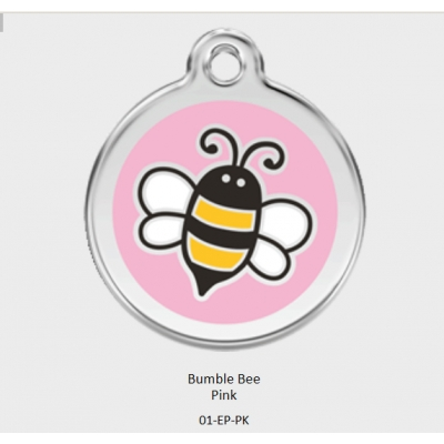Red Dingo Pink Bumble Bee Tag