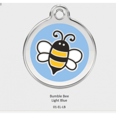 Red Dingo Blue Bumble Bee Tag