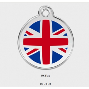 Red Dingo Union Jack Flag Tag