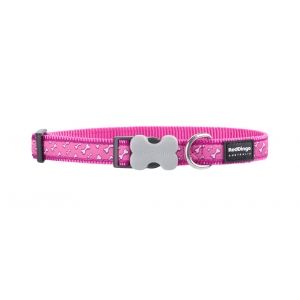 Pink Flying Bones Red Dingo Collar