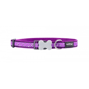 Purple Flying Bones Red Dingo Collar